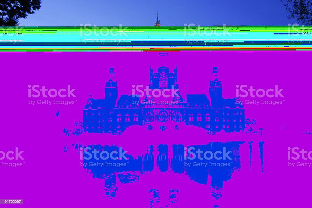 New Townhall of Hannover royalty-free stock photo