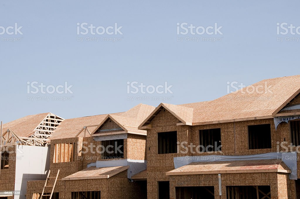 New townhome construction royalty-free stock photo