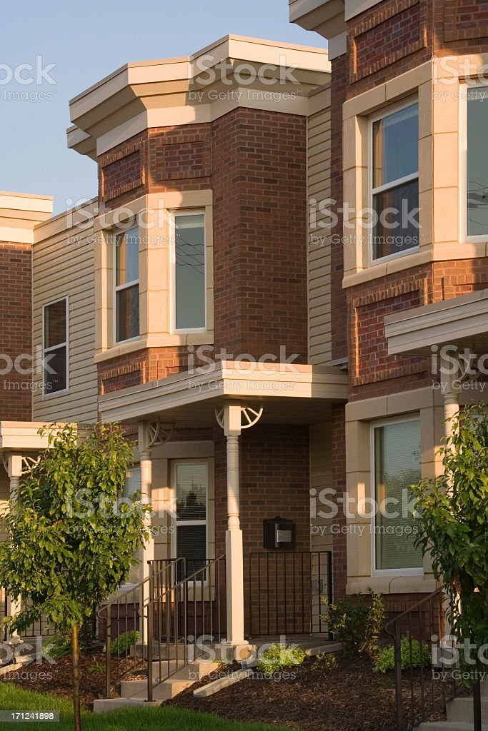 New Townhouse Vt royalty-free stock photo