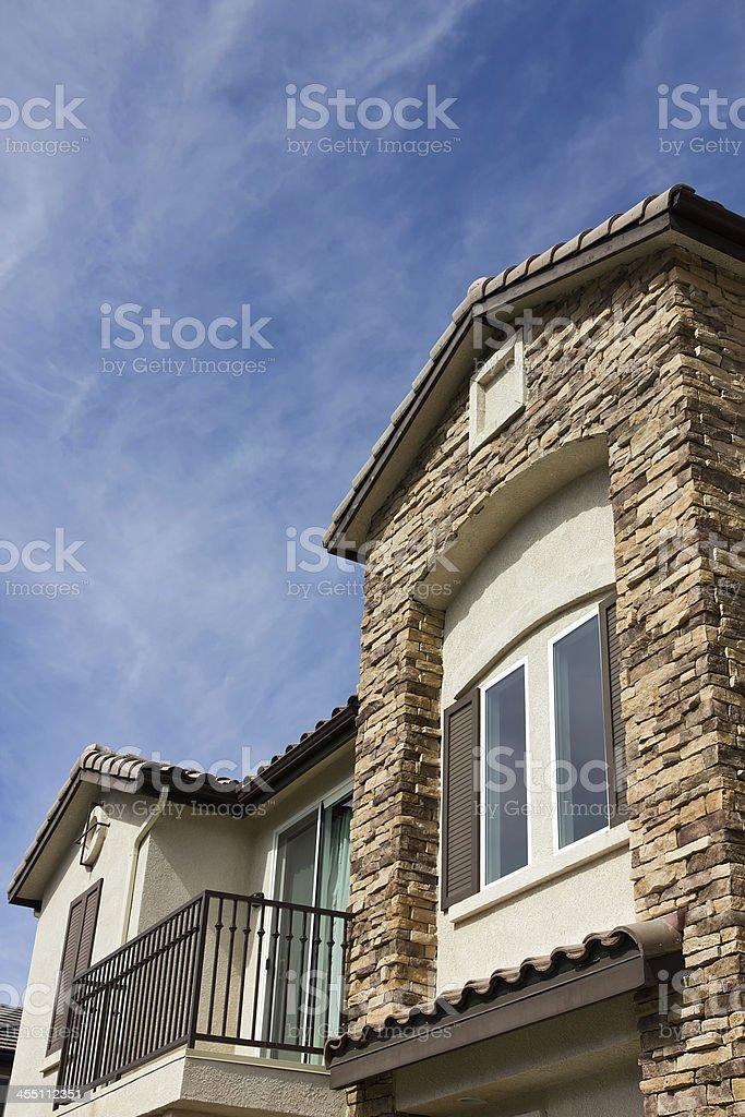 New Townhouse with Balcony stock photo
