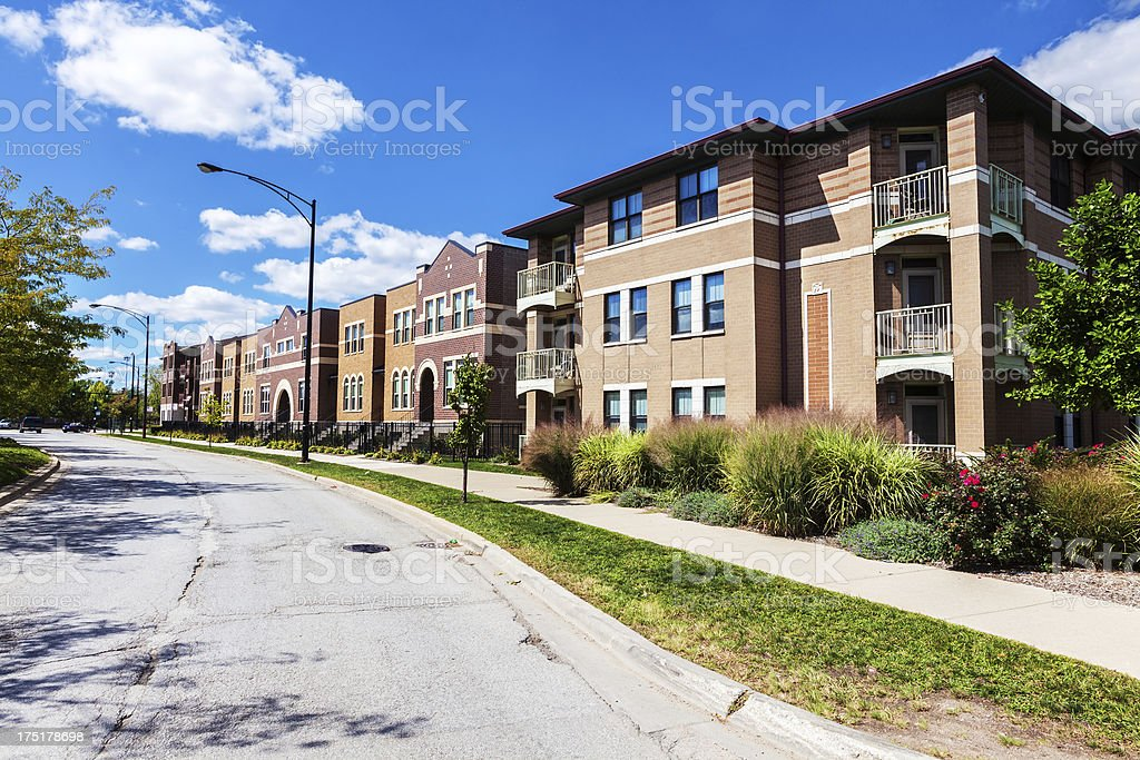 New townhouses in Oakland, Chicago royalty-free stock photo