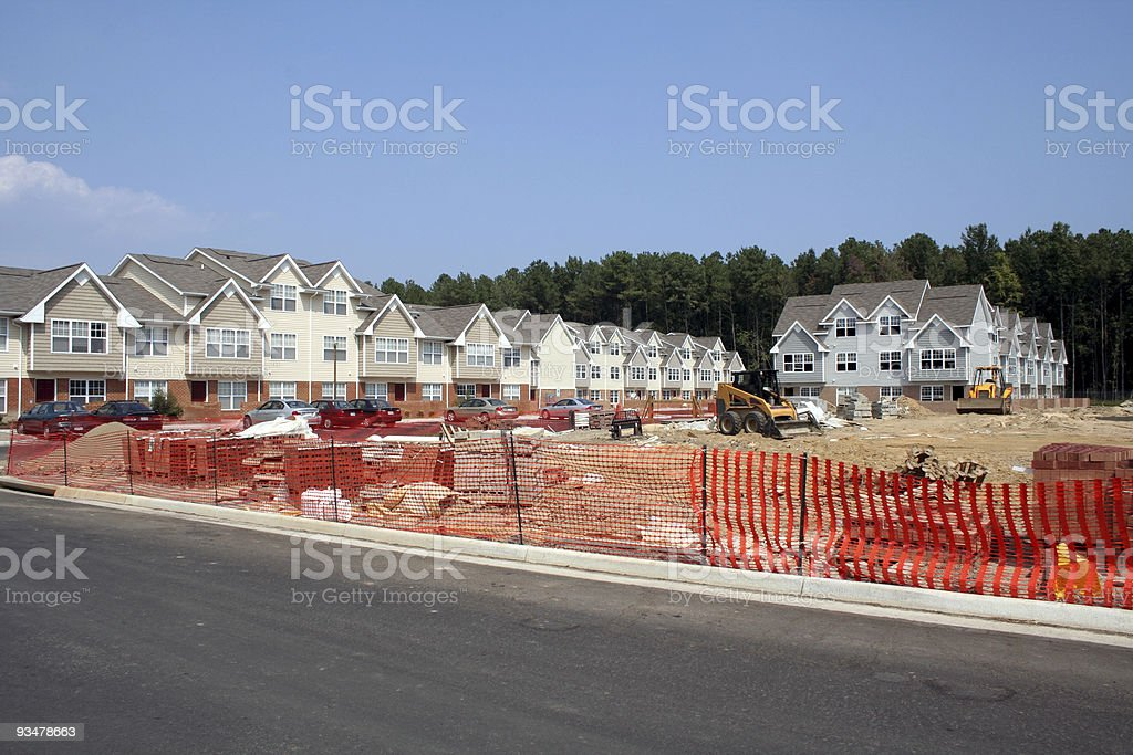 New Townhouses Under Construction royalty-free stock photo