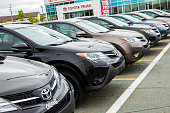 istock New Toyota Rav4 Vehicles in a Row at Car Dealership 471561095