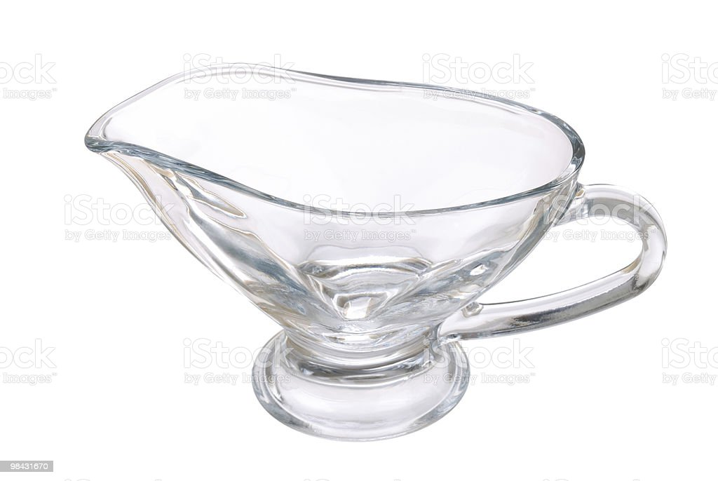 New transparent glass pitcher on white royalty-free stock photo