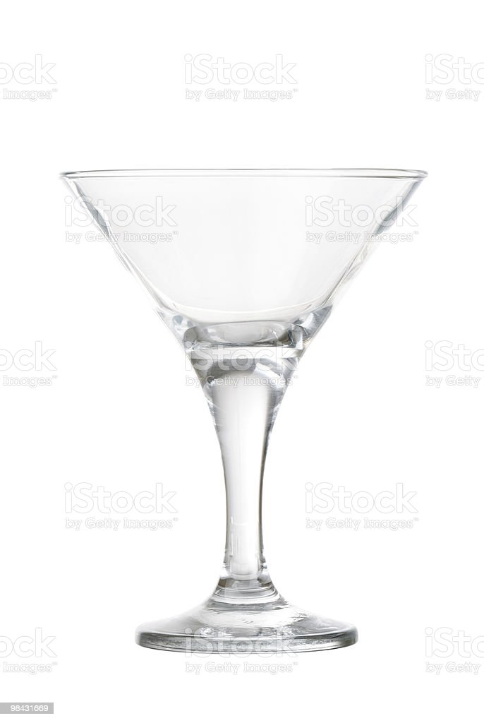 New transparent wineglass on white royalty-free stock photo