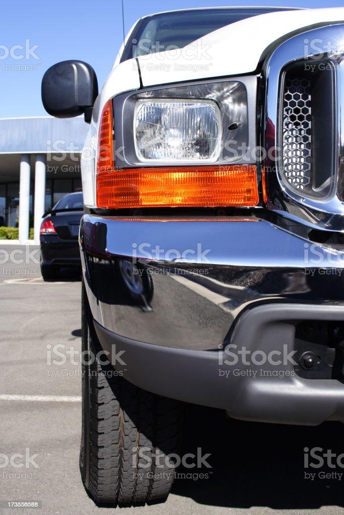 new truck detail stock photo
