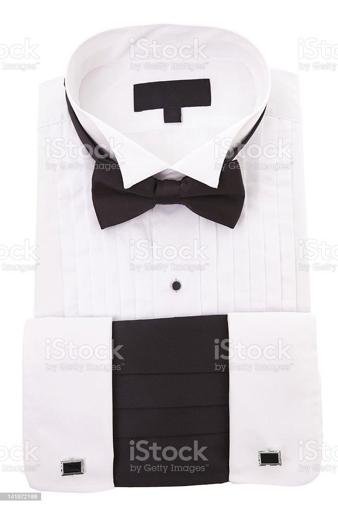 New Tuxedo Shirt stock photo