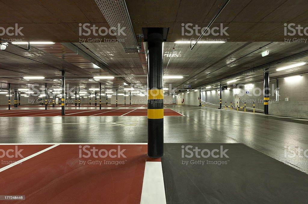 new underground parking royalty-free stock photo