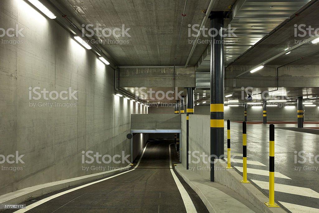 new underground parking, tunnel royalty-free stock photo