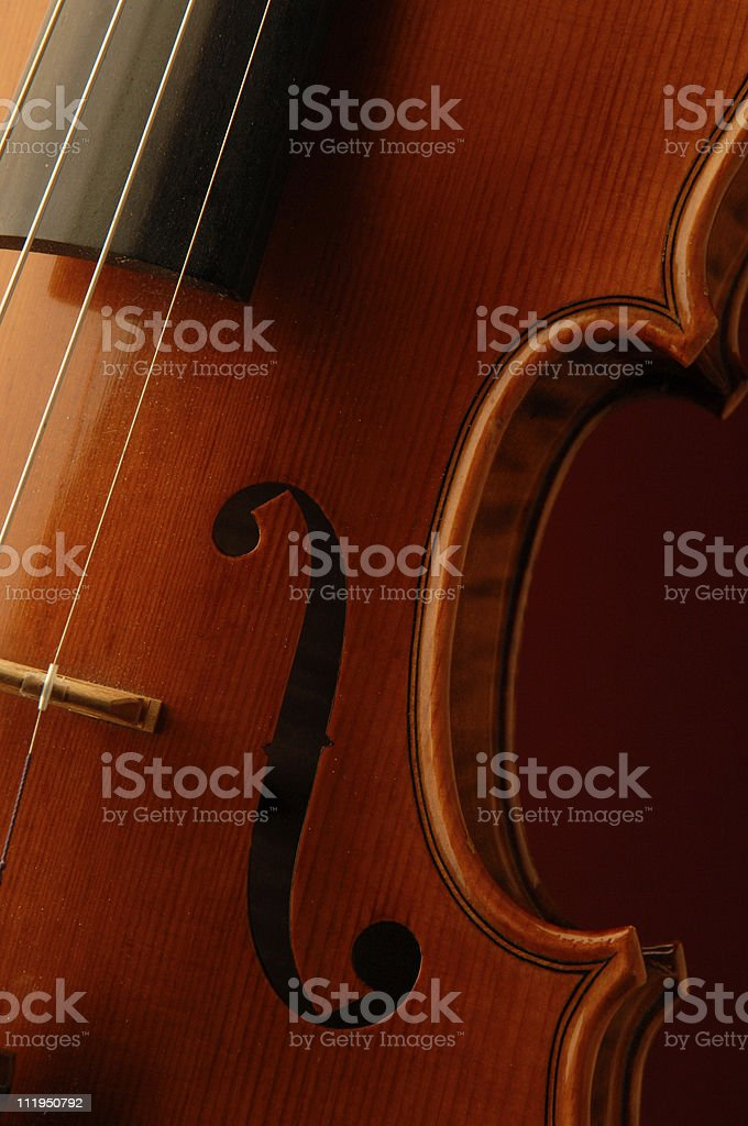 New Violin Detail f Hole Cropped royalty-free stock photo