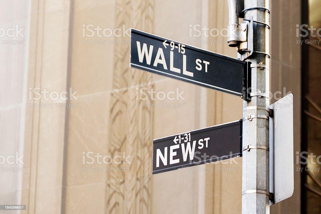 New Wall St royalty-free stock photo
