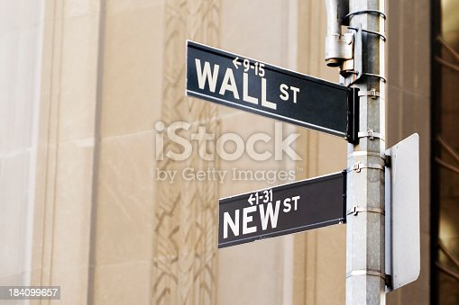 Financial District street signs