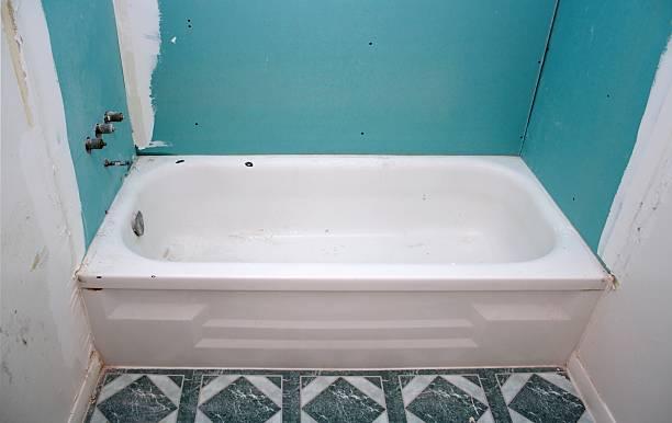 New Walls Old Tub stock photo