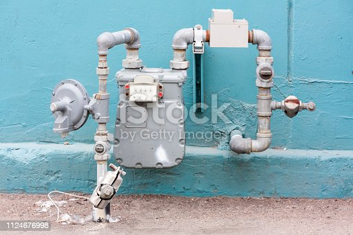 New water meter in front of wall