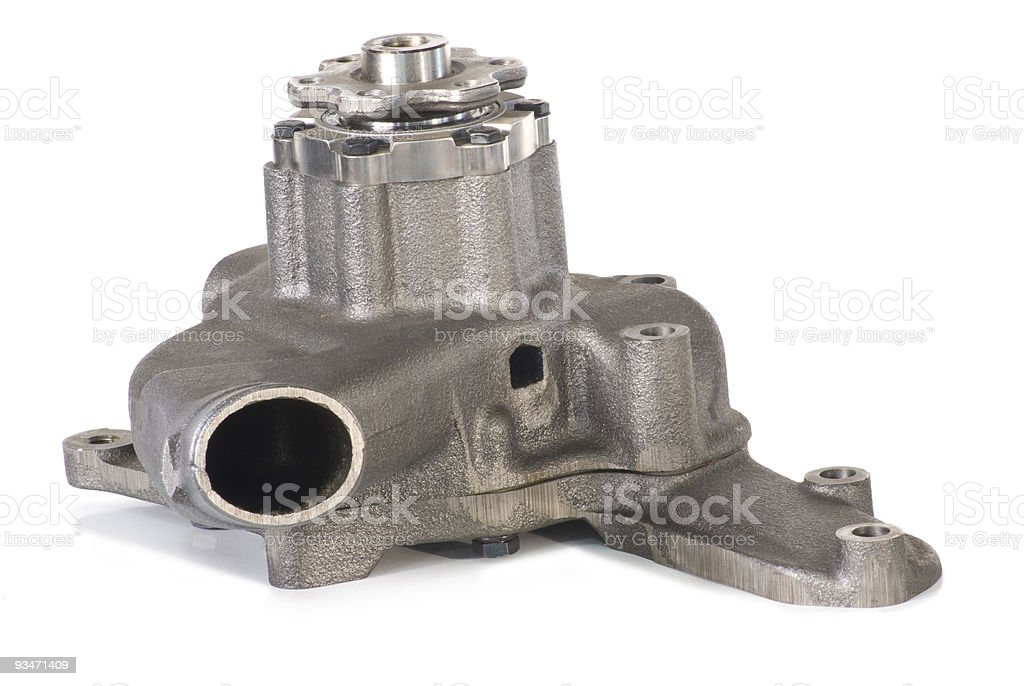 New water pump in the cast body. royalty-free stock photo