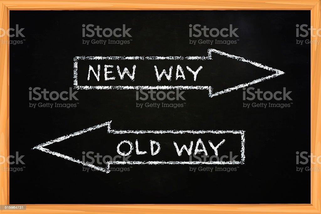 New Way Old Way stock photo