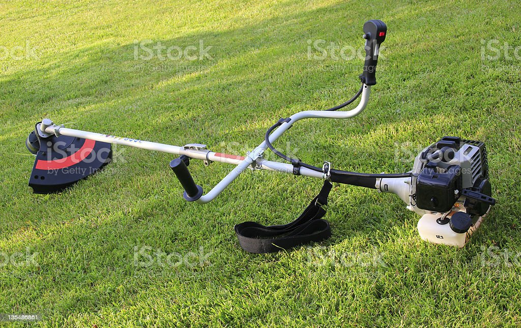 New weed trimmer royalty-free stock photo