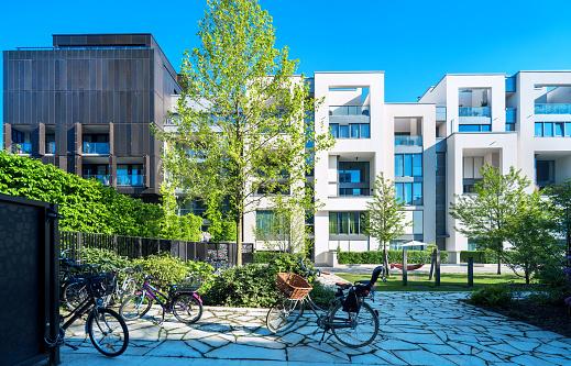 New white apartment houses
