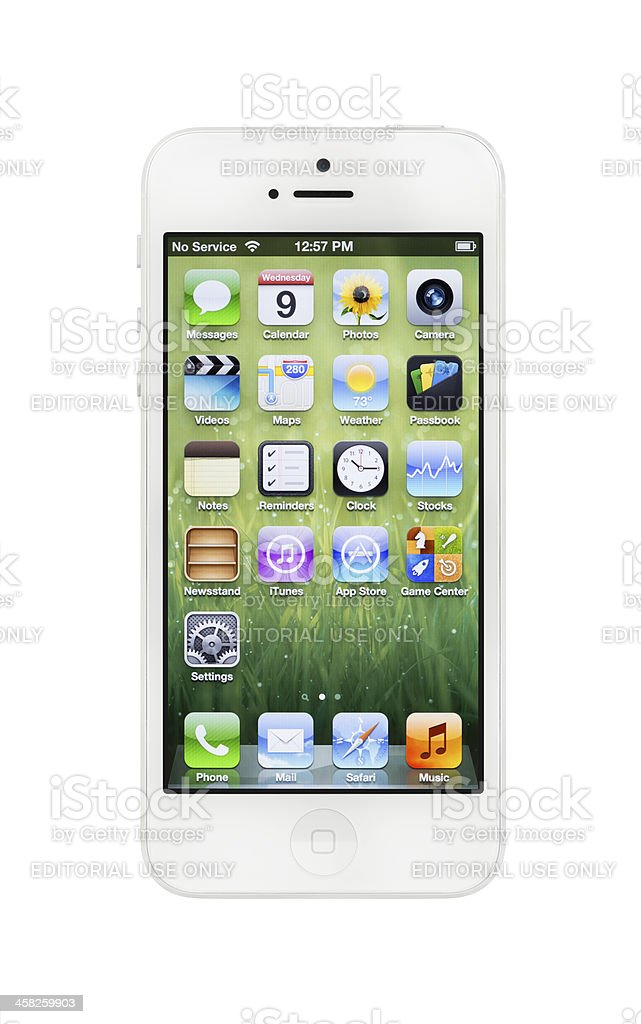 New White Apple iPhone 5 royalty-free stock photo