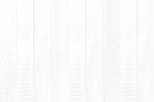 Empty clean new white wood panel wall texture for background