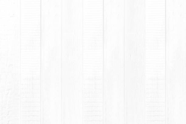 New white wood panel wall texture for background - foto stock
