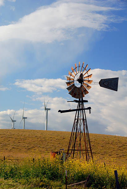 New Windmills For Old stock photo