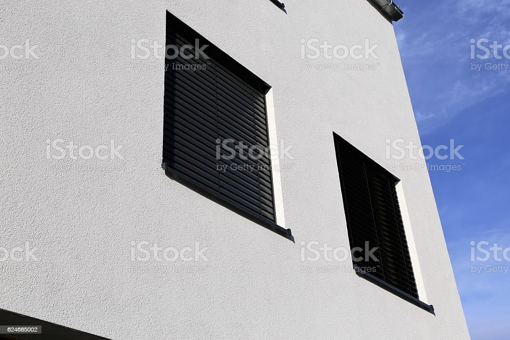 New window with shutter stock photo