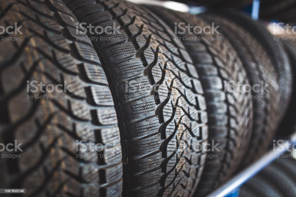 Winter Tires For Sale >> New Winter Tires For Sale In Store Stock Photo Download
