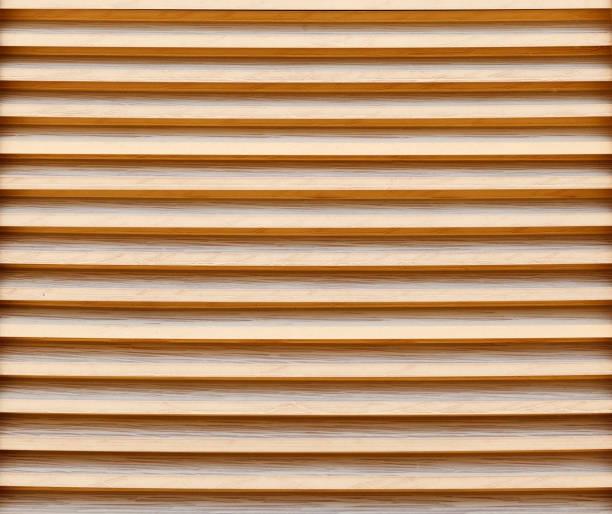 new wooden blinds close-up. background image, texture. - com portada imagens e fotografias de stock