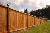 istock New Wooden Fence 1223537650