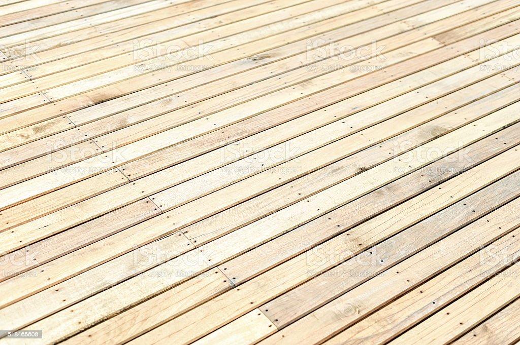New wooden floor stock photo