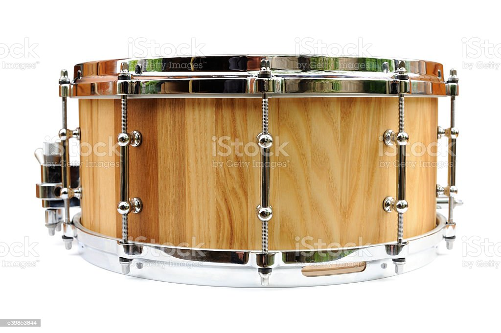 New Wooden Snare Drum Isolated Stock Photo & More Pictures of ...