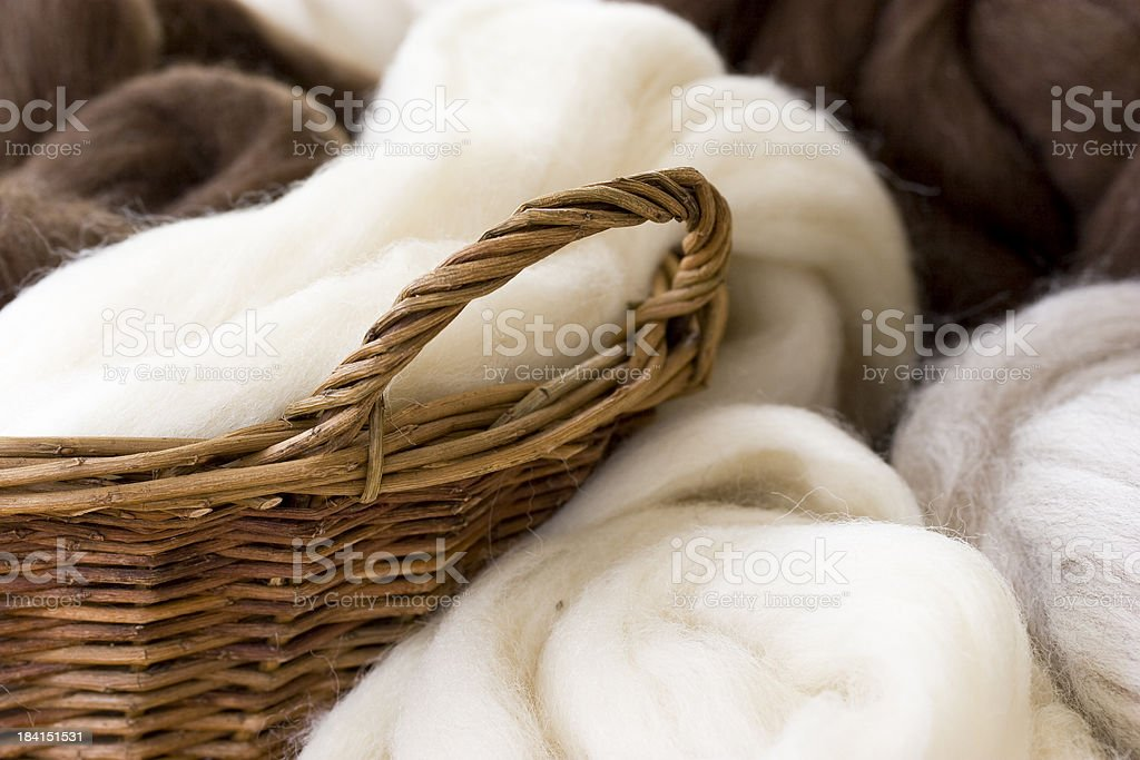 New  wool in natural colors stock photo