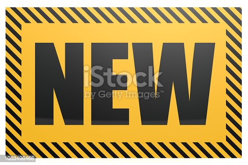 istock New word on yellow and black banner 1053496466