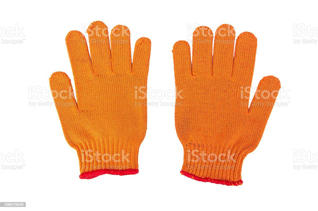 new Work Gloves Isolated On White. royalty-free stock photo