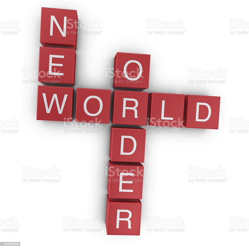 New world order stock photo