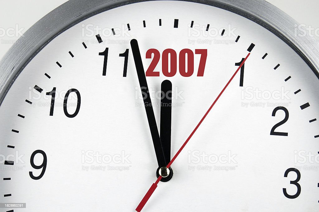 New year 2007 royalty-free stock photo