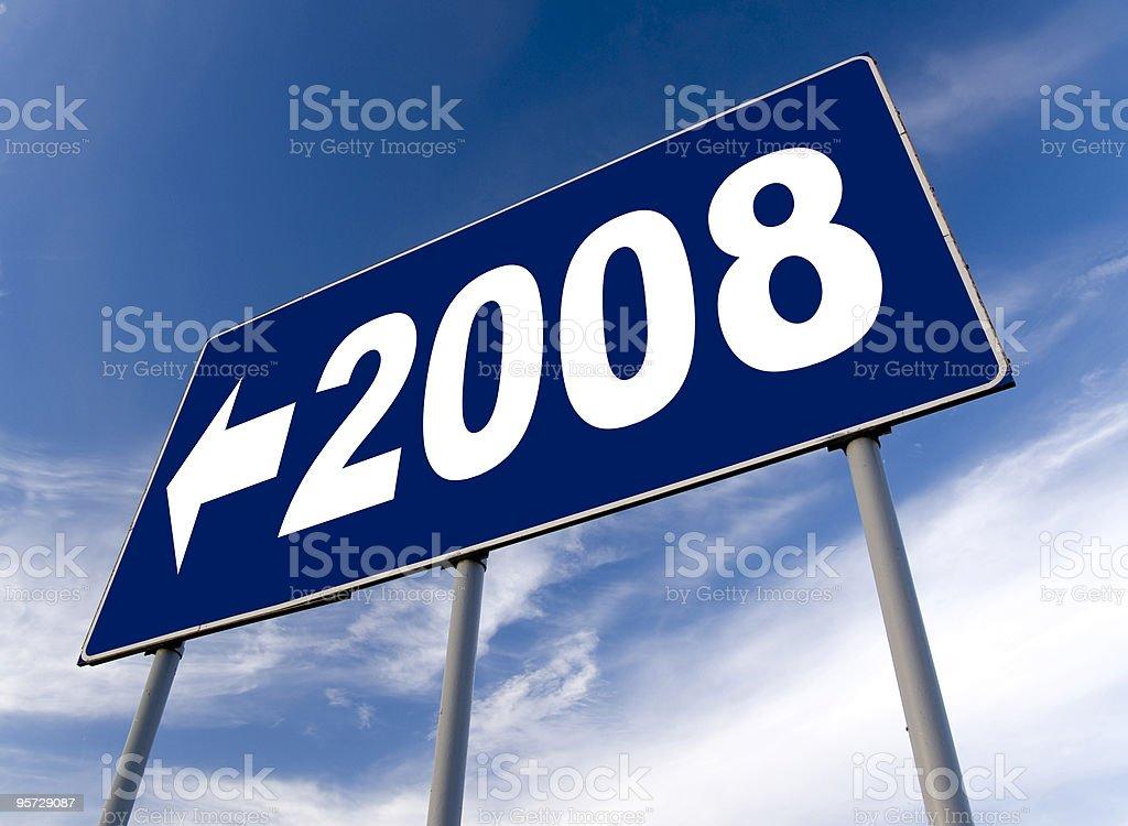 new year 2008 billboard royalty-free stock photo