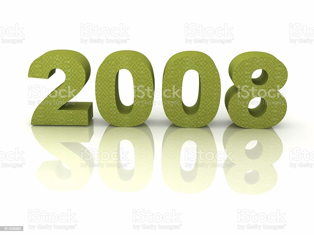 New Year 2008 royalty-free stock photo