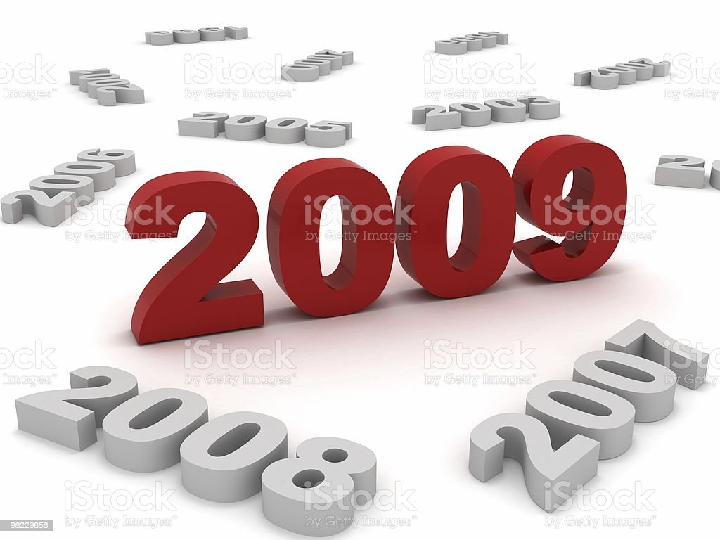 New Year 2009 royalty-free stock photo