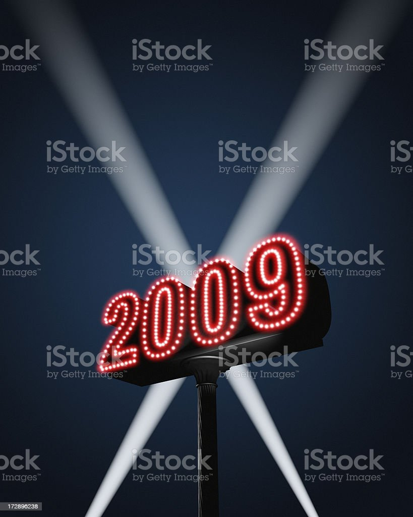 New Year 2009 XL royalty-free stock photo