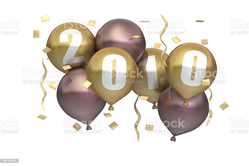 New Year 2010  Balloons stock photo