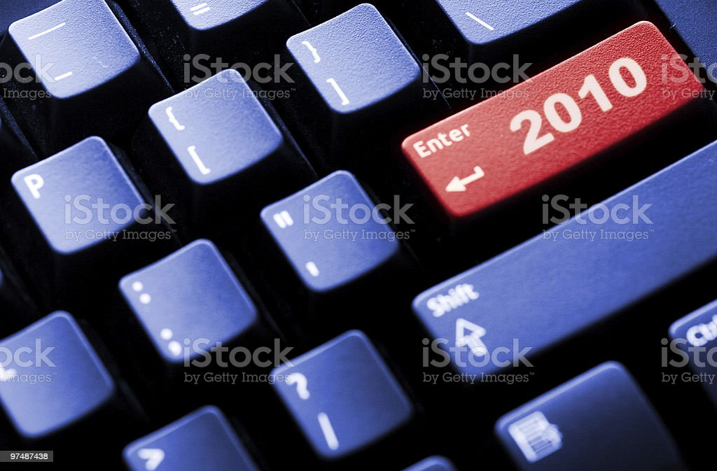 New Year 2010 business concept royalty-free stock photo