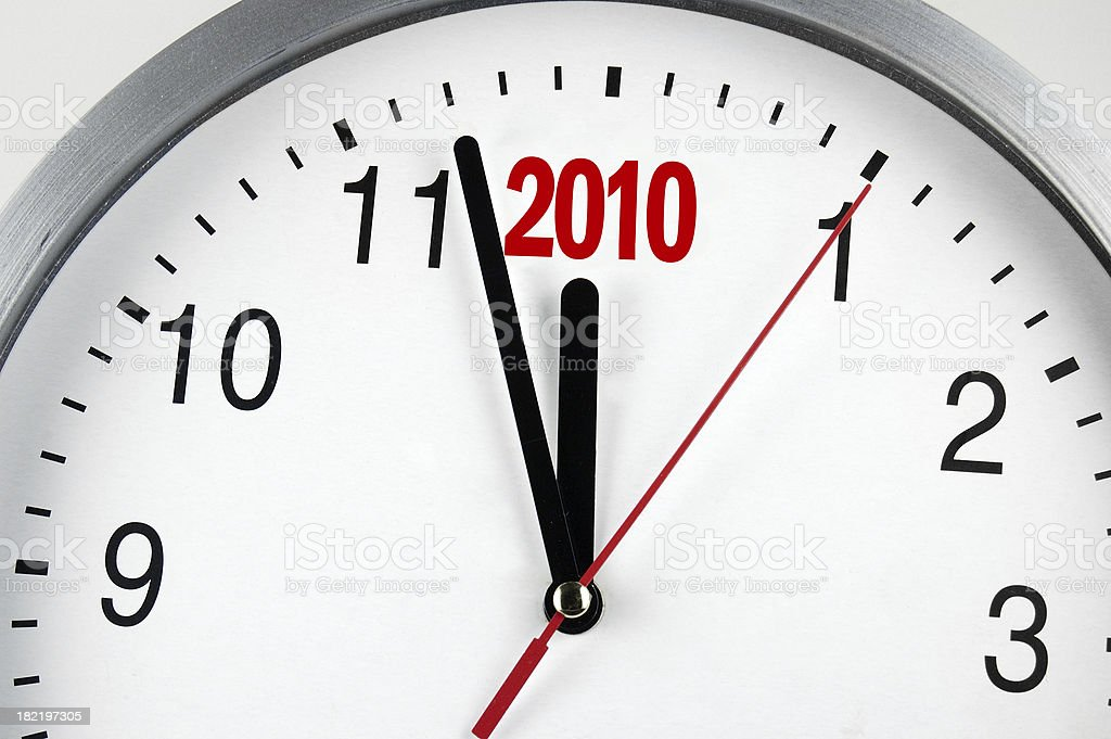 New year 2010 royalty-free stock photo