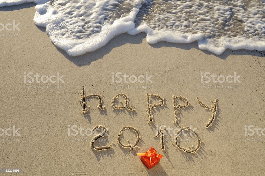 New Year 2010 W a Wave royalty-free stock photo