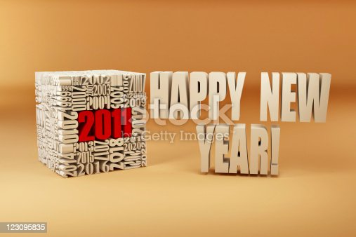 istock New year 2011. Cube consisting of the numbers 123095835