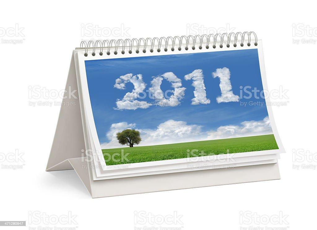New Year 2011 Desktop Calendar Cover royalty-free stock photo