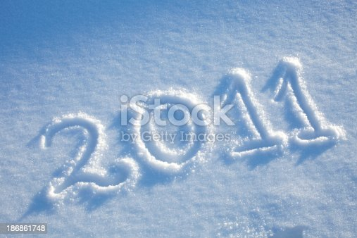 istock New year 2011 in the snow 186861748