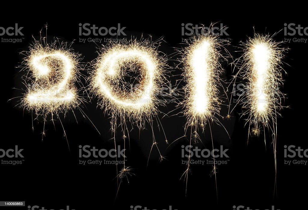 New Year, 2011 royalty-free stock photo