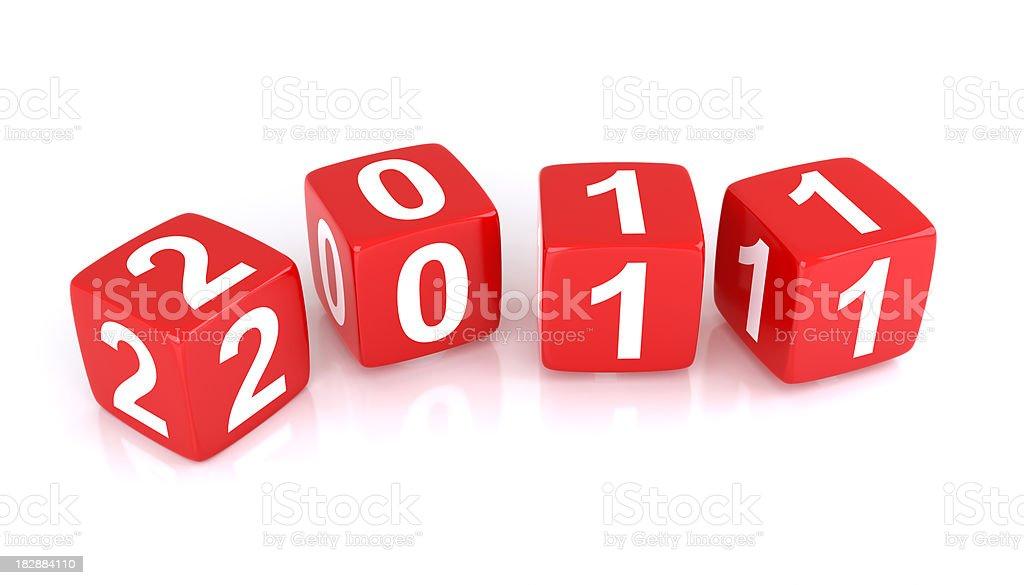 New Year 2011 stock photo